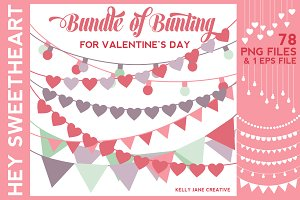 Valentine's Day Bunting on SALE