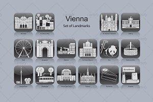 Vienna landmark icons (16x)