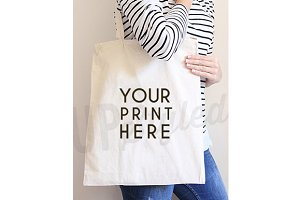 A168 Canvas Tote Bag Mock Up