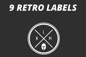 9 Retro Label Logos
