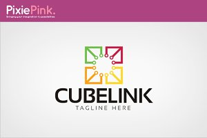Cube Link Logo Template