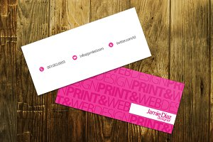 Typo Mini Business Card