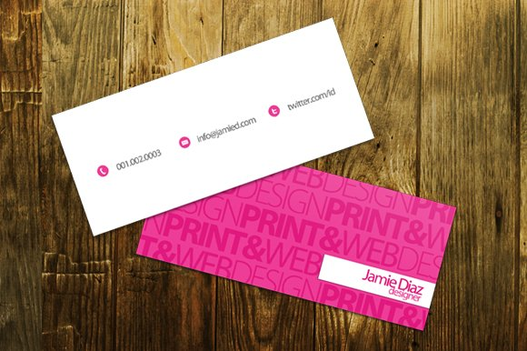 Typo Mini Business Card Business Card Templates Creative Market - Mini business card template