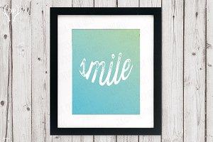 Smile inspirational positive art