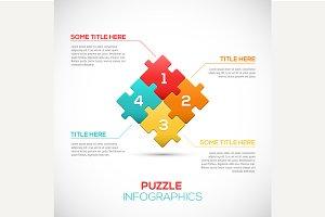3D Puzzle piece infographics