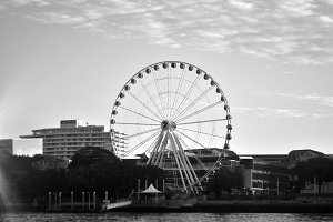 Wheel of Brisbane Stock Photo