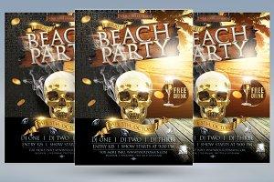 Deluxe Beach Party Flyer