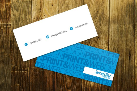Mini business card gallery business card template typo mini business card business card templates creative market colourmoves gallery accmission Gallery