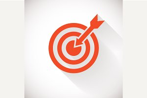 Target icon. Target logo concept
