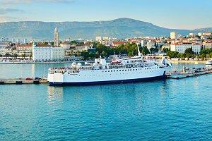 View of Split harbor,Croatia