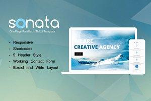 Sonata - Onepage HTML Template