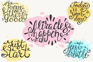 Positive Quotes Hand Drawn