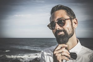 Hipster man with beard