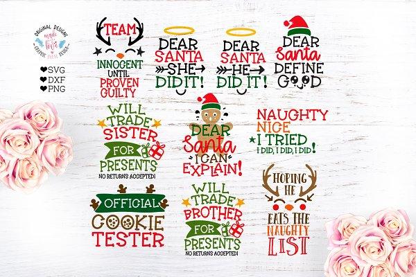 Dear Santa I Can Explain Pre Designed Illustrator Graphics Creative Market