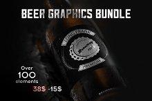 Beer graphics vector bundle.