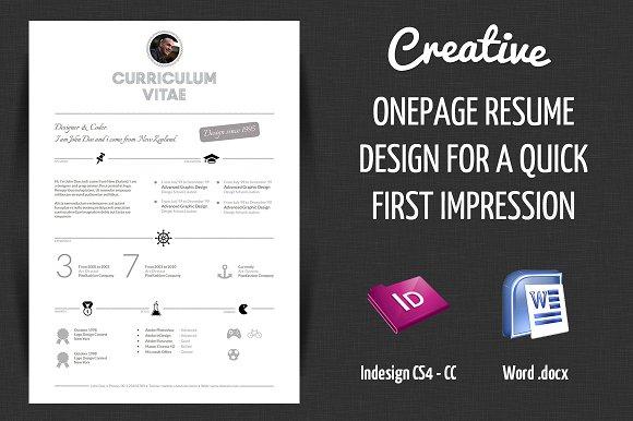 Creative Resume Resume Templates Creative Market