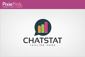 Chat Stat Logo Template