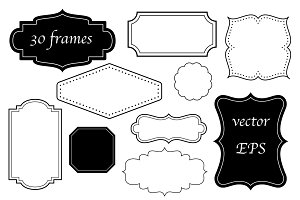 30 frames in four styles - VECTOR