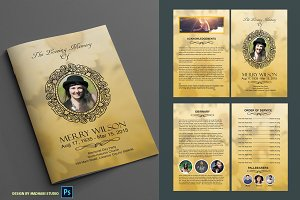 Funeral Program Template vol02