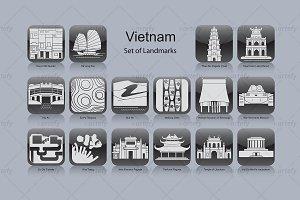 Vietnam landmark icons (16x)