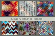 Grunge seamless patterns.