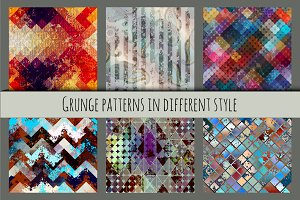 Grunge seamless patterns.
