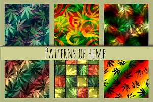 Patterns with a hemp images.