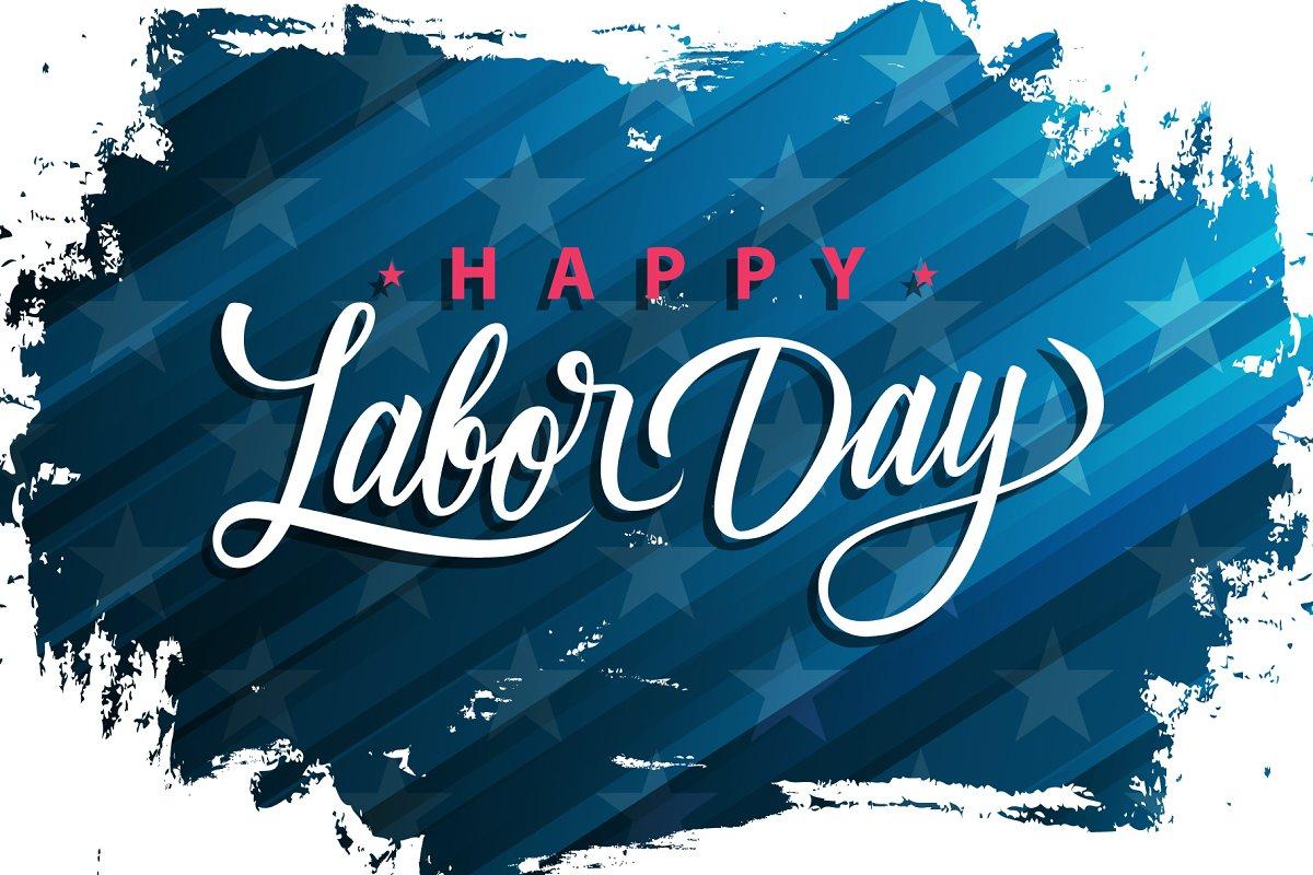 Usa Labor Day Banner
