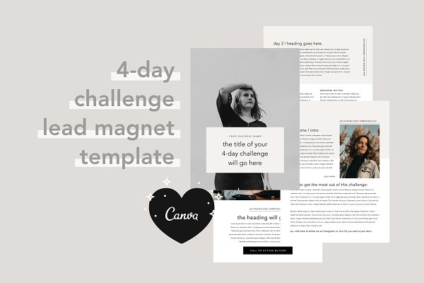 4 Day Challenge Lead Magnet   Canva
