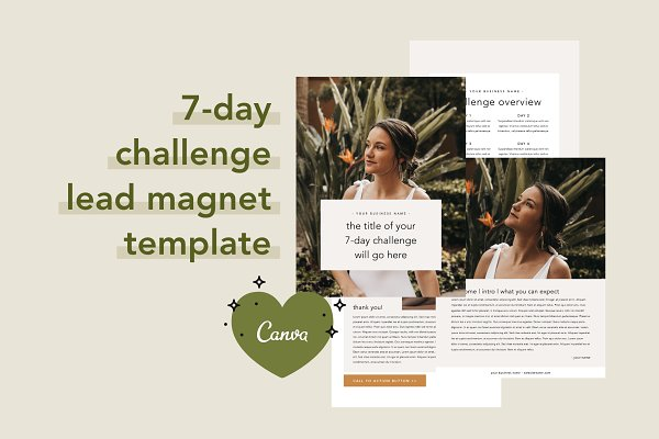 7 Day Challenge Lead Magnet   Canva
