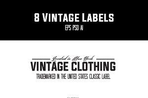8 Vintage Label Logos