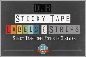 DJB Sticky Tape Labels Fonts