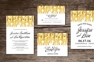 Wedding Invitation Suite watercolor