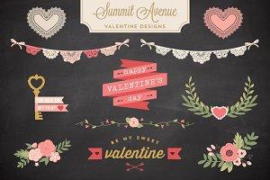 Valentine Bunting & Floral Bundle