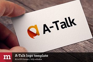 A-Talk logo template