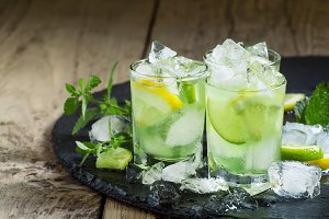 Lemon-lime green drink