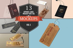 Apparel Label & Tag Mockups Vol. 1