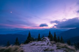 Purple Sunset in the hills