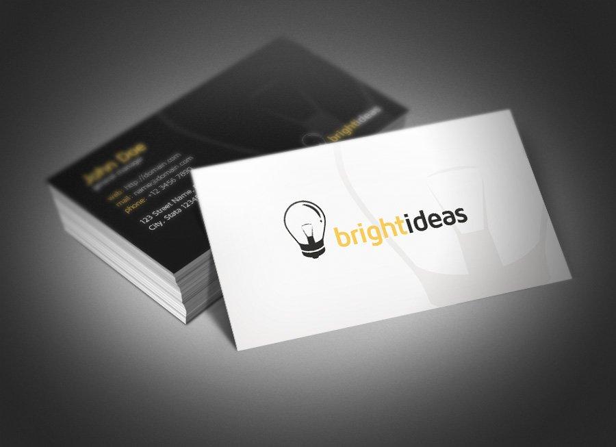 Bright ideas business card business card templates creative market colourmoves
