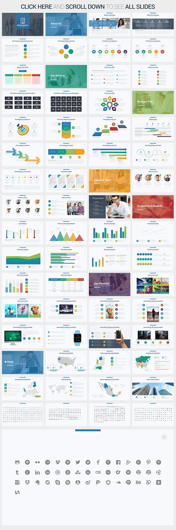 Professional Powerpoint Template ~ Presentation Templates ~ Creative ...