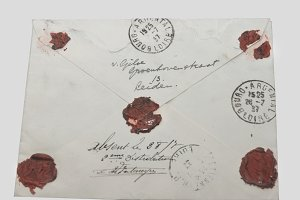 Vintage envelope with waxseals