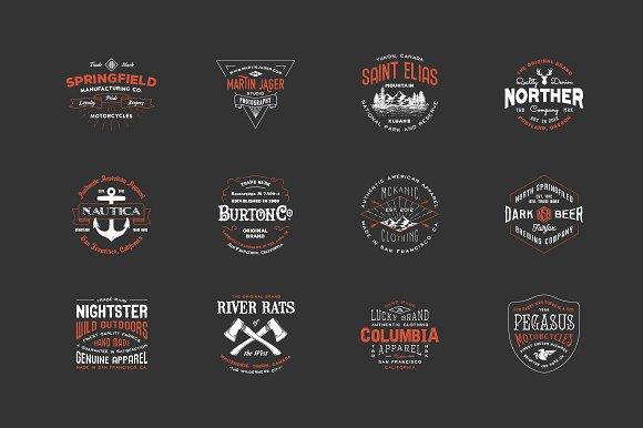 hipster vintage logo pack 2 logo templates creative market