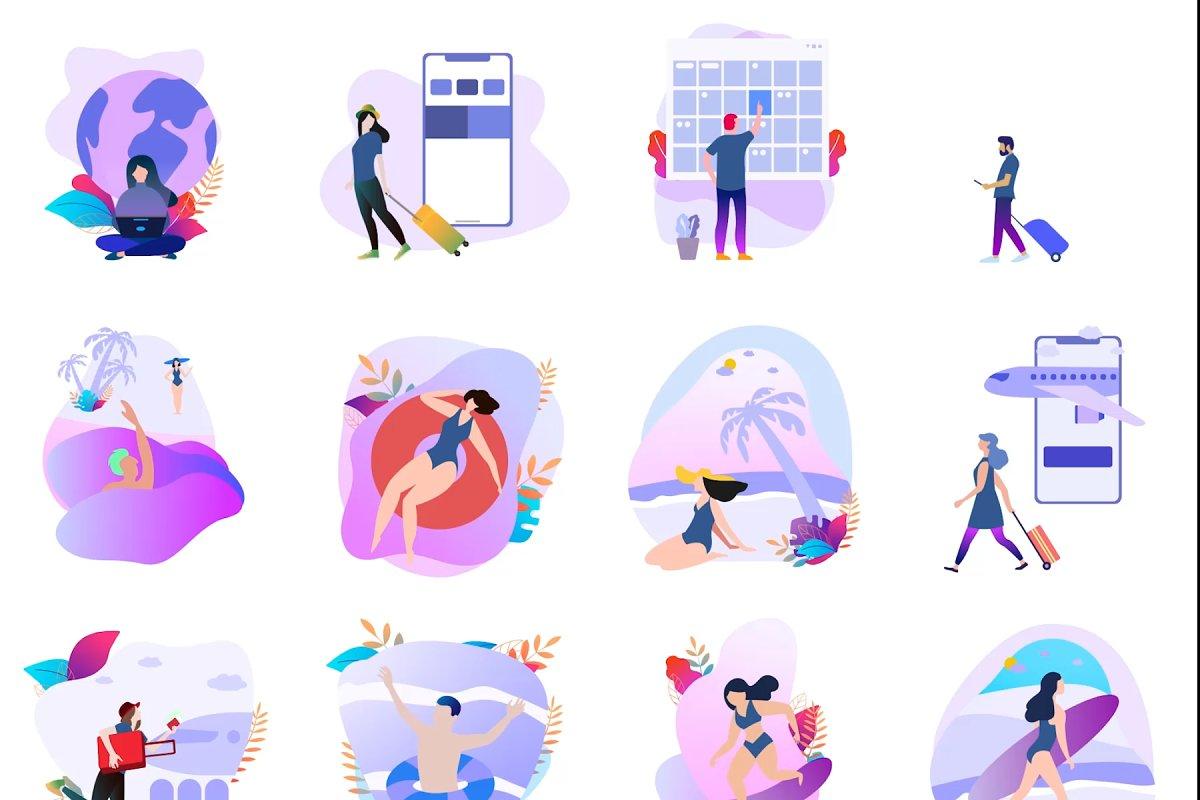 12 Animate Illustraion Travel