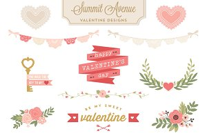 Valentine Design Bundle PNG files