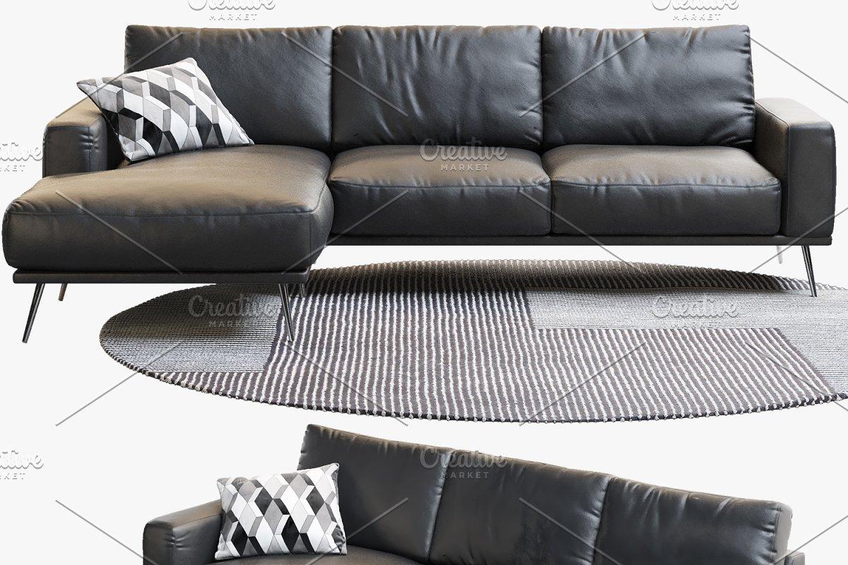 Carlton three-seat sofas 3d model