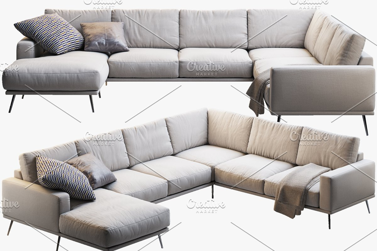Admirable Carlton Corner Sofa 3D Model Furniture Models Creative Cjindustries Chair Design For Home Cjindustriesco