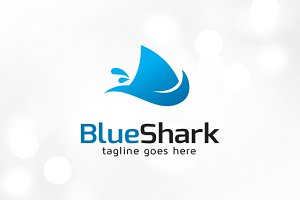 Simple Shark Logo Template