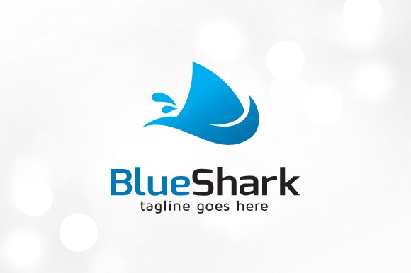 Simple Shark Logo Template