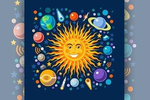 Funny Solar System Isometric