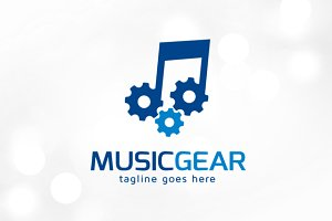 Music Gear Logo Template
